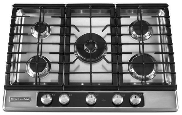 The KitchenAid Architect Series Ll Built In Gas Cooktops Are Streamlined,  Practical, And Offer Five Burners. The Gas Burners Are Strategically Placed  In A ...