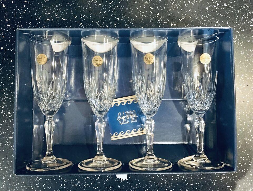 Set 8 bicchieri in cristallo CAPRI Crystal