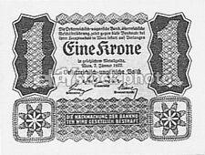 Uncirculated Banknote Austrian Paper Money
