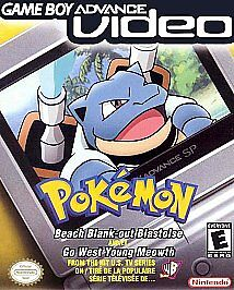 Pokémon Beach Blank-Out Blastoise & Go West Young Meowth, GBA, Video cart only