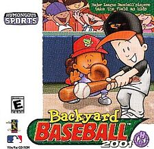 Backyard Baseball 2001 Pc Mac Cd Kids Major League Mlb Players Team
