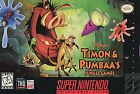 Disney's Timon & Pumbaa's Jungle Games (Super Nintendo Entertainment System, 1997)