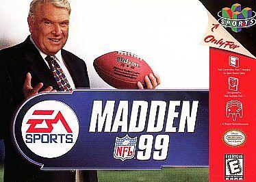 John MADDEN NFL 99 1999 FOOTBALL NINTENDO N 64 N64 Arcade Stlye Sports Game