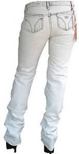 Fresco Miss Sixty Yucca Pantaloni Lavare Bg Stile J38R Bianco Jeans W28 L34