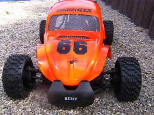 1:6 GFK  4 WD Carbon Fighter -Beetle Karosserie, FG, Carson, NEU!!!!