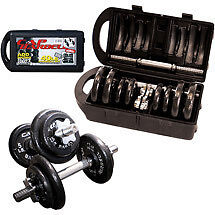 Cap Barbell 40 lb Adjustable Dumbbell Weight Set w/Case