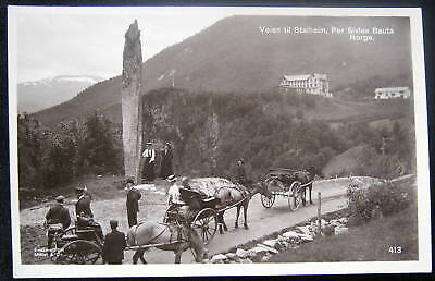 NORWAY~Norge~ Veien til Stalheim, Per Sivles Bauta~RPPC