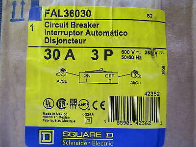 SQUARE D FAL36030 Circuit Breaker Lug 600 30A 100A FA Building Supplies