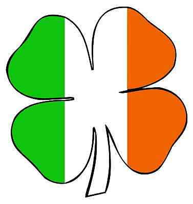 Shamrock Clover Vinyl Sticker Decal 6 (full Color)