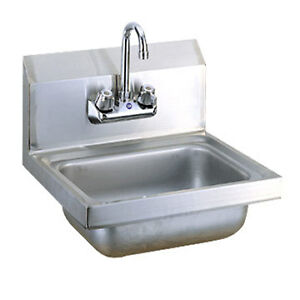 Commercial Hand Sink : Details about Commercial Kitchen Stainless Steel Wall-Mount Hand Sink ...