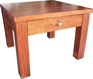 New Lamp TABLE Solid Timber Square Side Lounge Ends Wooden Tables Coffee SWAN
