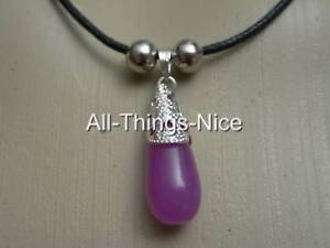 AMETHYST-Gemstone-Reiki-Healing-DROP-Pendant-Necklace-Jewellery