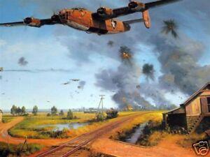 Operation-Tidal-Wave-B-24-Liberator-Ploesti-Trudgian-Signed-Aviation-Art-RARE