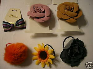 Lot-of-6-NWT-NWOT-Womens-Flower-Hair-Accessories