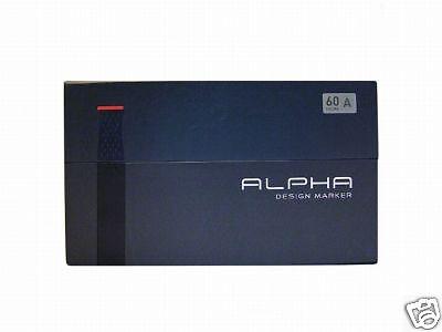 Alpha Twin Design Grafik Marker 60 er Set A