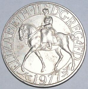 1977 Commemorative Crown Silver Jubilee Uncirculated