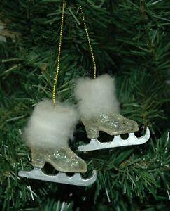 Ladies,Ice, Figure Skating, Skates Christmas Ornament