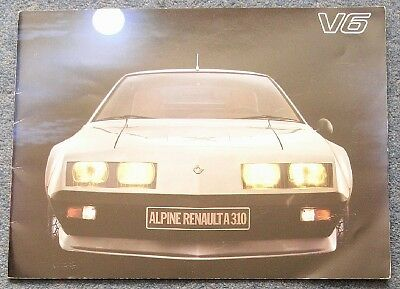 RENAULT ALPINE A310 V6 Brochure c1978 GERMAN #28.117.08