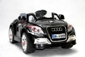 KIDS-RIDE-ON-ELECTRIC-AUDI-TT-CABRIOLET-BLACK-CAR-PARENTAL-REMOTE