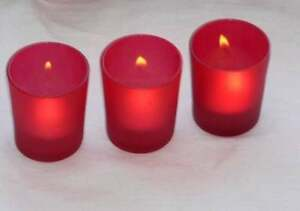 96-Red-Glass-Candle-Holder-Wedding-Party-Deco-or-Chinese-New-Year-FREE-tealight