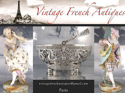 Vintage French Limoges Porcelain Doll Furniture Miniature, Stamped, 8 pcs