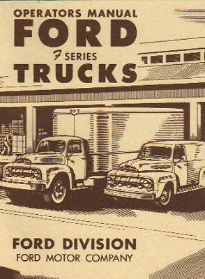 1951 Ford Truck Owner's Manual- Series F-1 Thru F-8