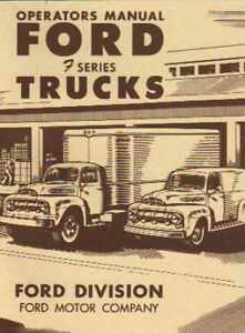 1951 Ford Truck Owners Manual Series F 1 Thru F 8