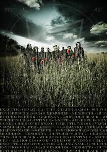 SLIPKNOT ALL HOPE IS GONE A4 album poster & listing | eBay