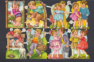 PZB VINTAGE PLAY CHILDREN  SCRAP GERMAN COLLAGE PAPER