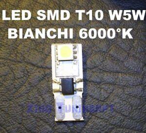 1-Bulb-SMD-LED-White-T10-W5W-501-6000-K-Lights-Positions-Targ-Car-12V