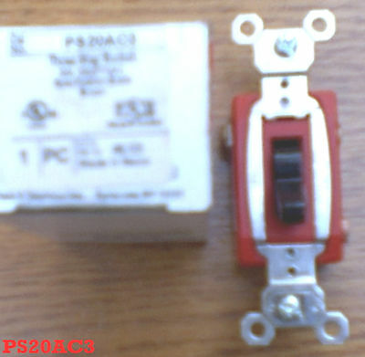 Pass & Seymour Ps20ac3 Red 3 Way Industrial Extra Heavy Duty Toggle Switch 20a Building Supplies