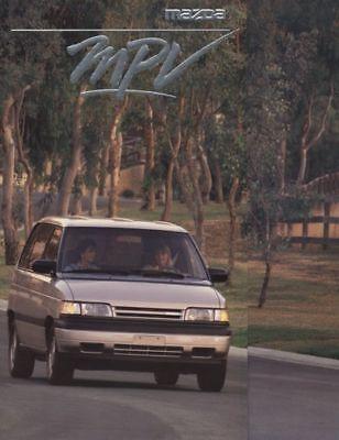 1990 Mazda MPV VAN Dealer Sales Brochure Book