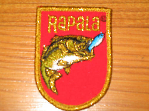 Vintage Rapala Fishing Lure Patch Hat Vest Cap Tackle