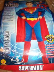 Size-Medium-8-10-Muscled-Superman-Super-Man-Costume-New