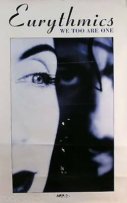 EURYTHMICS 1987 WE TOO ARE ONE PROMO POSTER