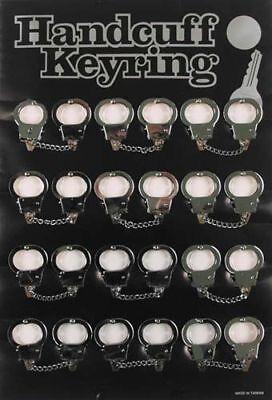 12x Mini Handschellen Schlüsselanhänger Daumen Schellen
