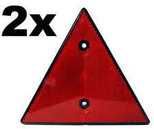 2x Triangular Red Reflectors- Screw-fit Rear Triangle Pair for trailers caravans