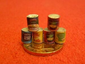 1-24th-Scale-Dolls-House-Miniature-Food-Tins-T07