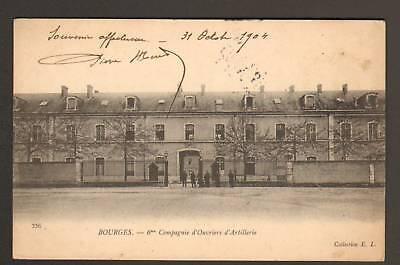 BOURGES (18) 6° COMPAGNIE D'OUVRIERS D'ARTILLERIE en 1904
