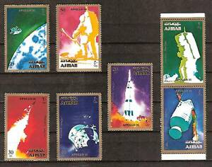 AJMAN M: # 1014-1020 MNH APOLLO 16 MOON MISSION