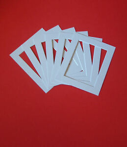 50-TEXTURED-WHITE-PICTURE-MOUNTS-16-x-12-for-A4