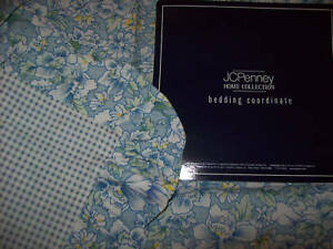 Wedding Ring Euro Sham from JC Penney: 100% cotton Blue Floral with Ruffle
