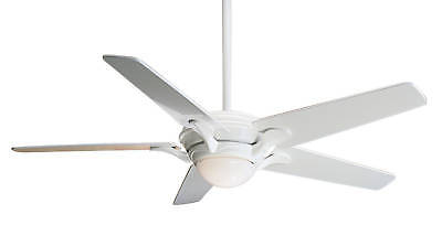 Casablanca 55 Bel Air Gloss White 6 Speed Wall Control Ceiling Fan 3811z