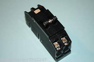 Challenger Zinsco 50 Amp 2 Pole Breaker Type Q Wide Ebay