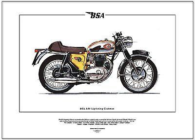 BSA A65 LIGHTNING CLUBMAN - Motorbike Fine Art Print