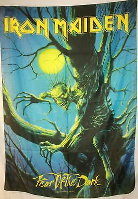 IRON MAIDEN Fear of the Dark Eddie Cloth Fabric Poster Flag Wall Banner-New!!!