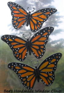 BEA-039-S-REAL-STAINED-GLASS-EFFECT-BUTTERLY-WINDOW-CLINGS