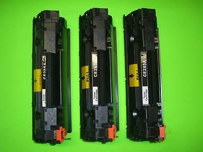 3pk Toner Cartridge Hp Laserjet M1212 P1102 Ce285a 85a