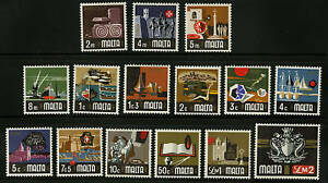 Malta-1973-Scott-454-468-MNH-Set