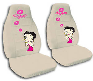 special set betty boop design car seat covers 9 colors ebay. Black Bedroom Furniture Sets. Home Design Ideas